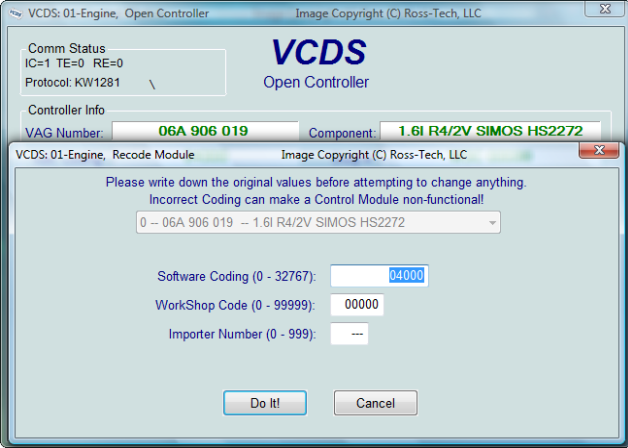 VW / Audi / Seat / Skoda diagnostic tool Ross-Tech VCDS